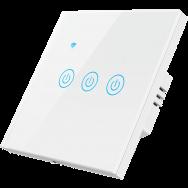 Умный выключатель ROXIMO сенсорный, трехкнопочный